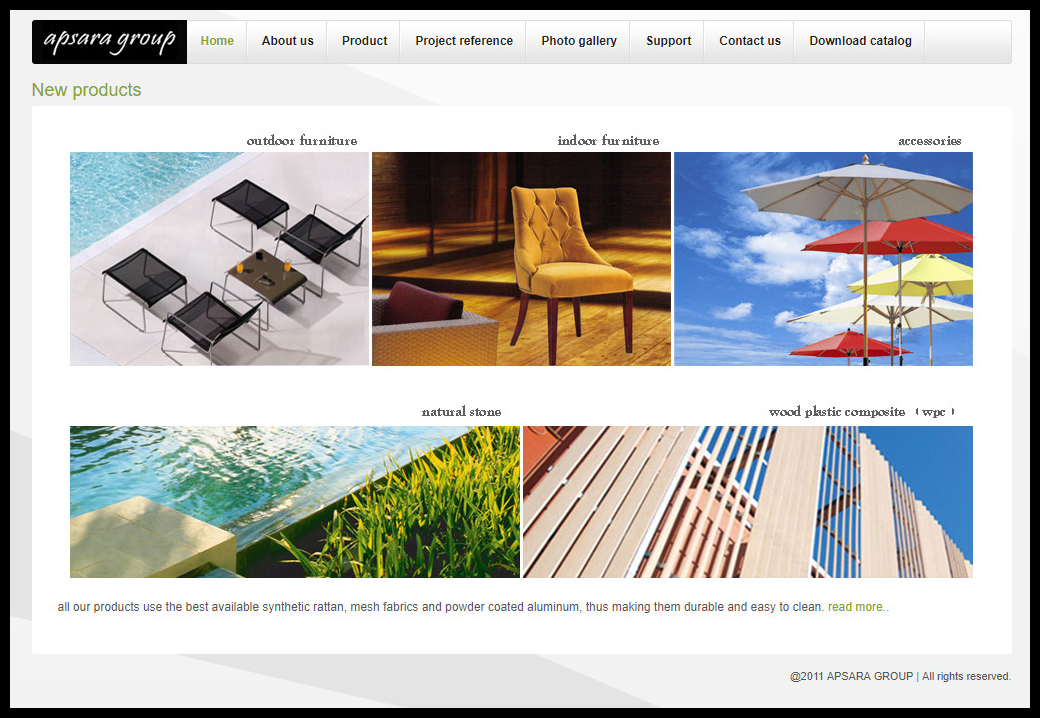 Web Design บริษัท อัปสรา กรุ๊ป จำกัด